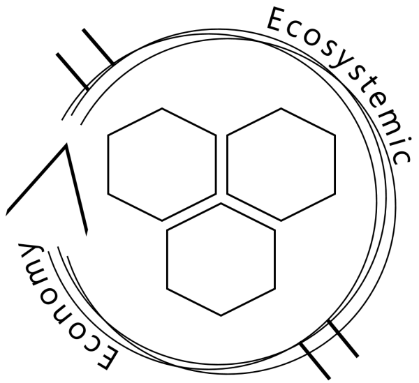 LOGO Ecosystemic - Black on white