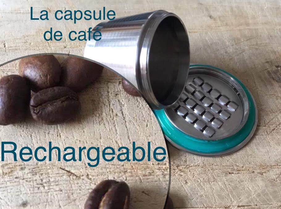 Capsule de café rechargeable