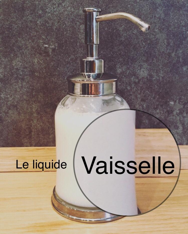 Le liquide vaisselle